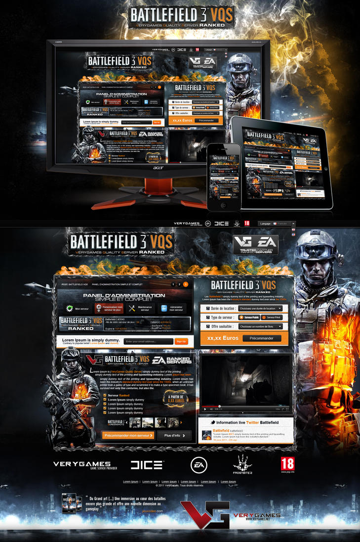 Battlefield 3 Showcase site by nyukdesign