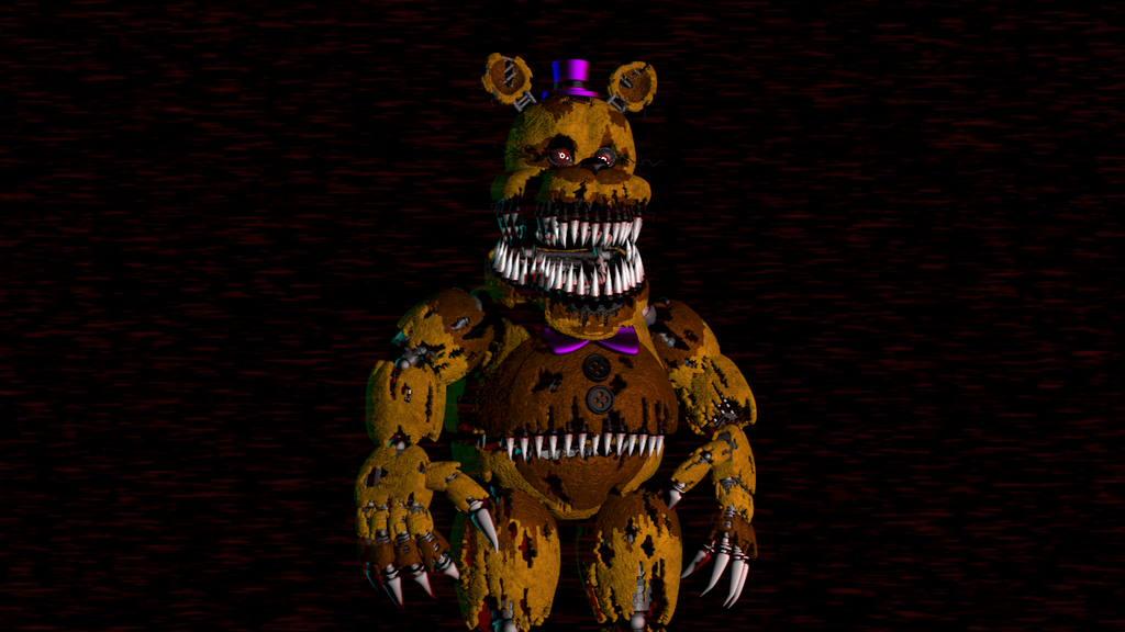 (SFM)Nightmare Fredbear Extra And Lighting Pose by SpringBonnieNotTrap