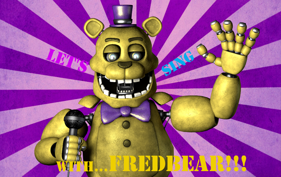 (C4D)Fredbear's Celebration by SpringBonnieNotTrap