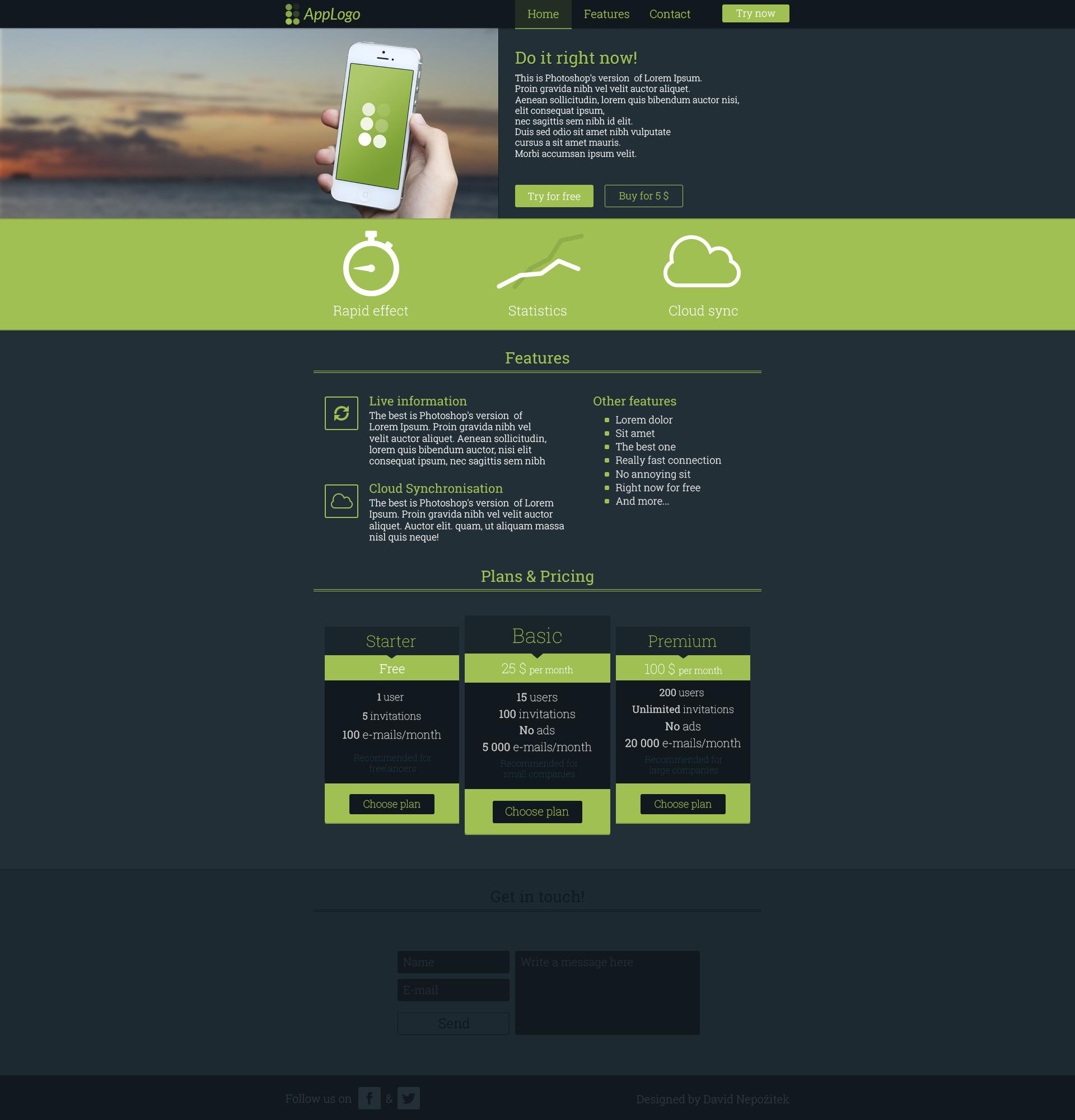 App website template by CrassusCZ on deviantART I18naQ7n
