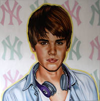 Justin Bieber painting by SaraSam89