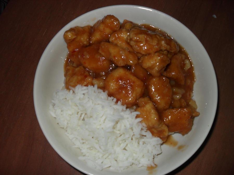 Orange Chicken Rice Bowl By Guillotinechan On Deviantart
