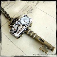 Steampunk Key Necklace by Lemniscate88