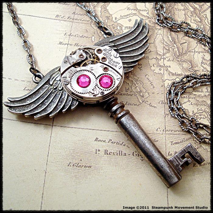 Steampunk Roman God Key by SoulCatcher06