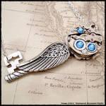 Steampunk Victorian Angel Key