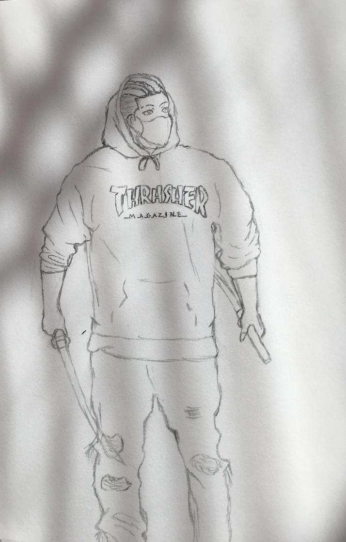 WIP - Hypebeast x Samurai x Thrasher by RecklessJD ...