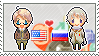 Stamp: USxRussia by Janbearpig