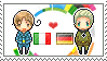 Stamp: ItalyxGermany by Janbearpig