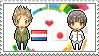 Stamp: NetherlandsxJapan by Janbearpig