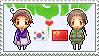 Stamp: KoreaxChina