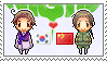 Stamp: KoreaxChina by Janbearpig