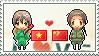 Stamp: VietnamxChina by Janbearpig