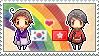 Stamp: KoreaxHong Kong by Janbearpig