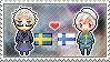 Stamp: SwedenxFinland