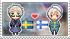 Stamp: SwedenxFinland by Janbearpig