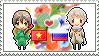 Stamp: VietnamxRussia by Janbearpig