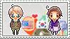 Stamp: USxKorea by Janbearpig