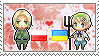 Stamp: PolandxUkraine by Janbearpig