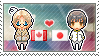 Stamp: CanadaxJapan by Janbearpig