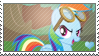MLP: Rainbow Dash stamp by Janbearpig