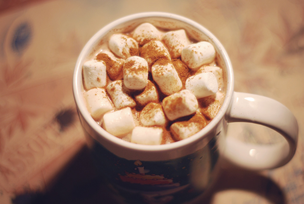 Hot chocolate with marshmallow by x003 on DeviantArt