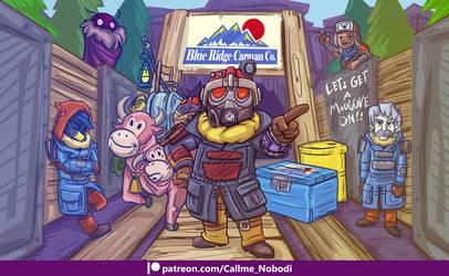Fallout Caricature Commission Faraday by callme-Nobodi