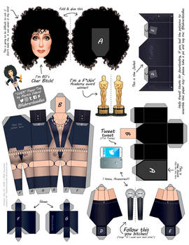 Cher PaperToy by Martin Fuhrer