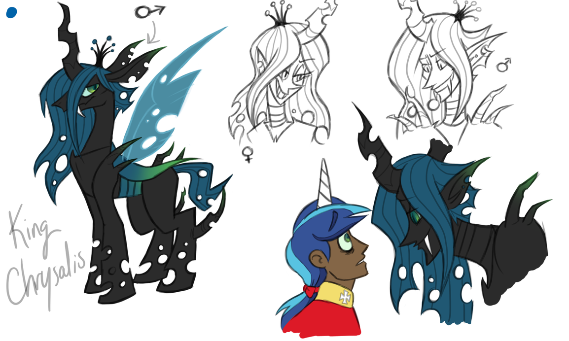 Mlp King Chrysalis Sketches By Nakkistiltz On Deviantart
