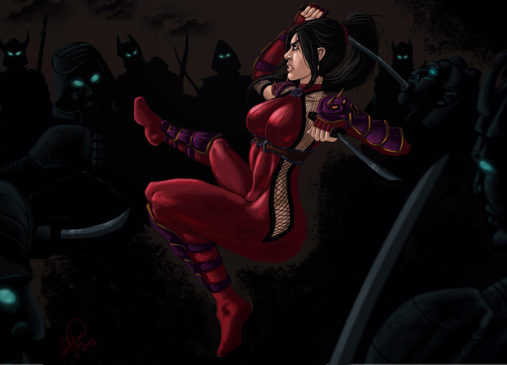 Taki vs Ninjas by shadowyzman