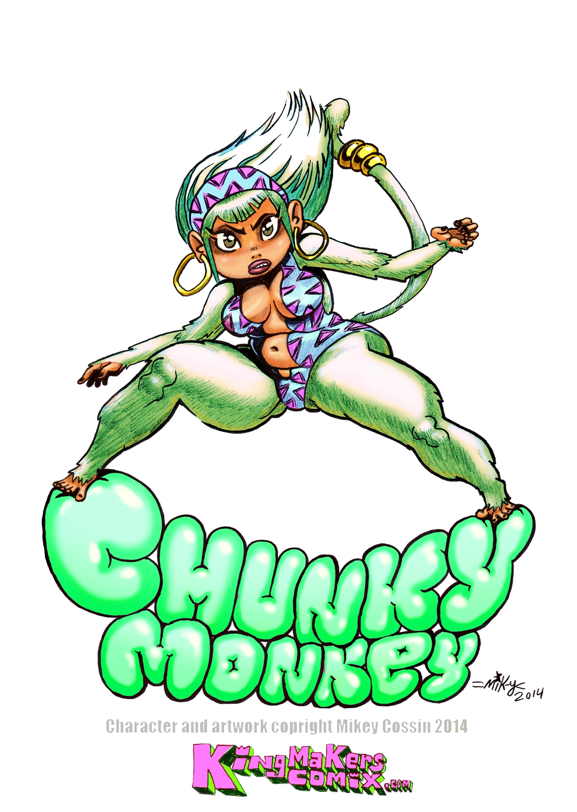 Chunky Monkey color by mikey-c