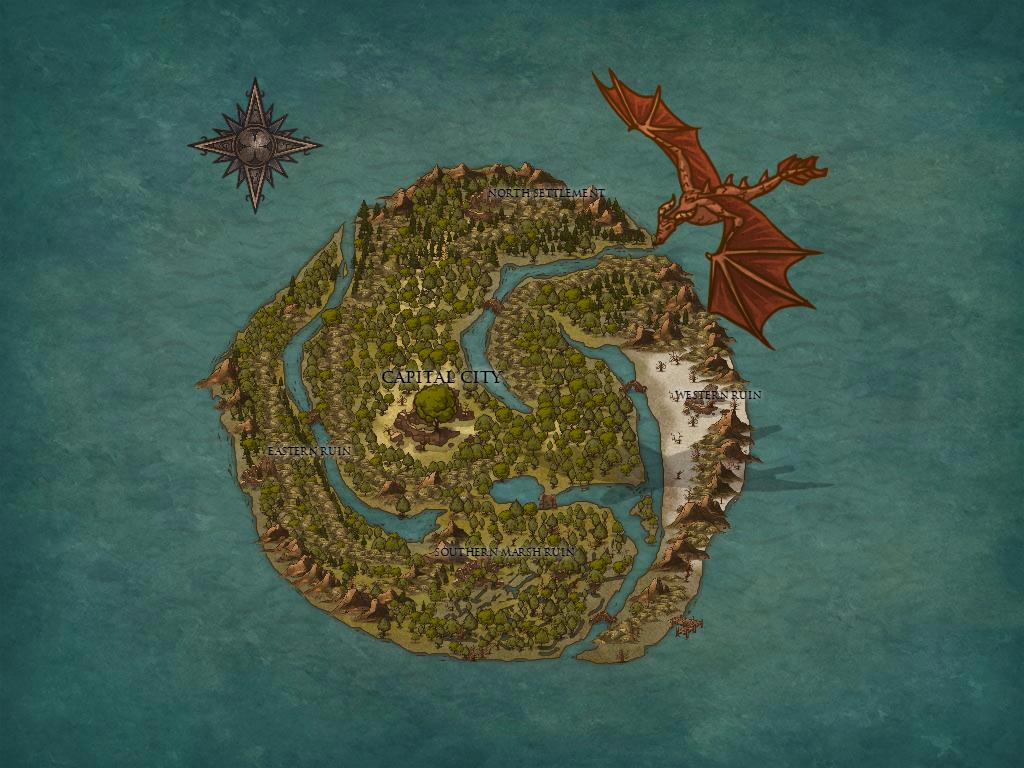 Fantasy Map 4 by Ryuchanwings