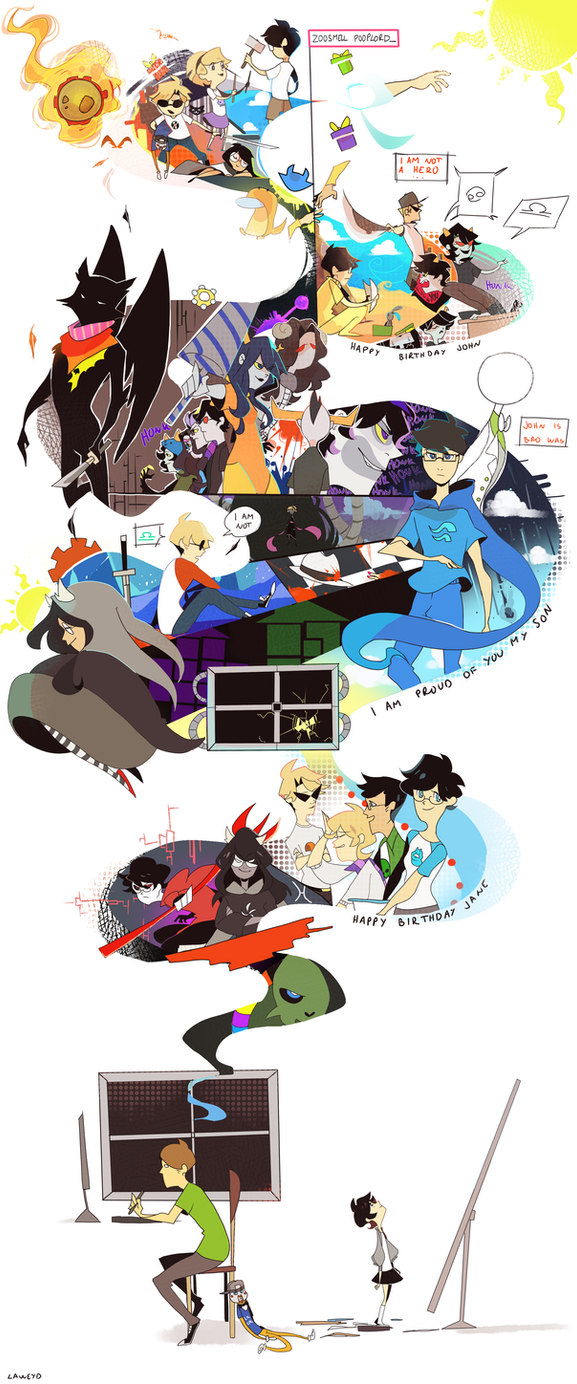homestuck 4/13 art by LaWeyD