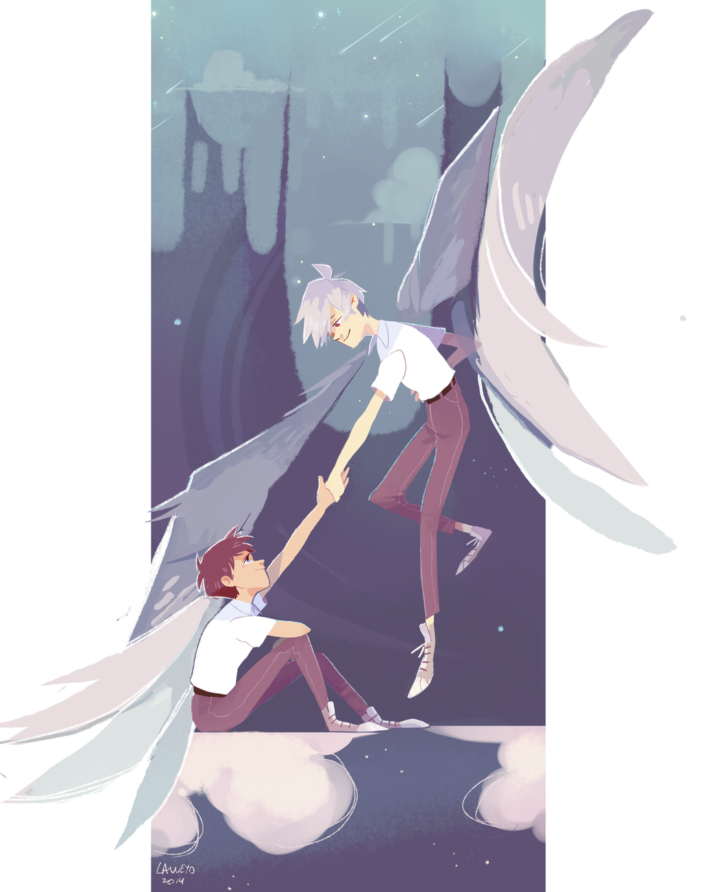 neon genesis evangelion - kaworu and shinji by LaWeyD on ...