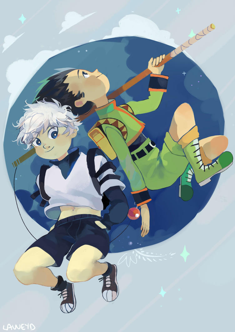 gon and killua - hunter x hunter by LaWeyD