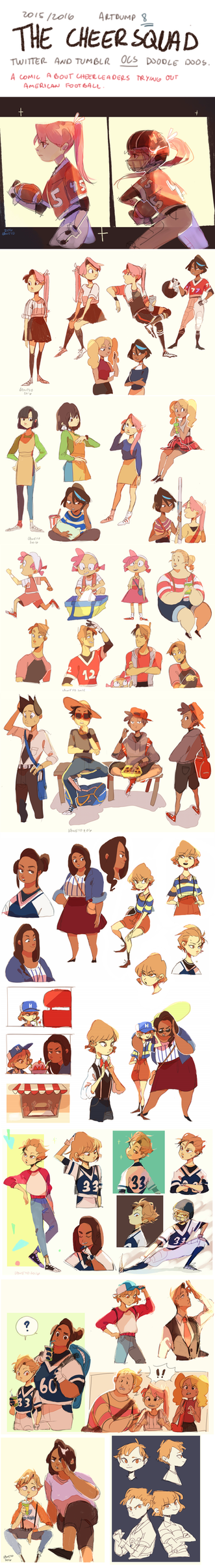 sketchdump 8 - the cheer squad by LaWeyD
