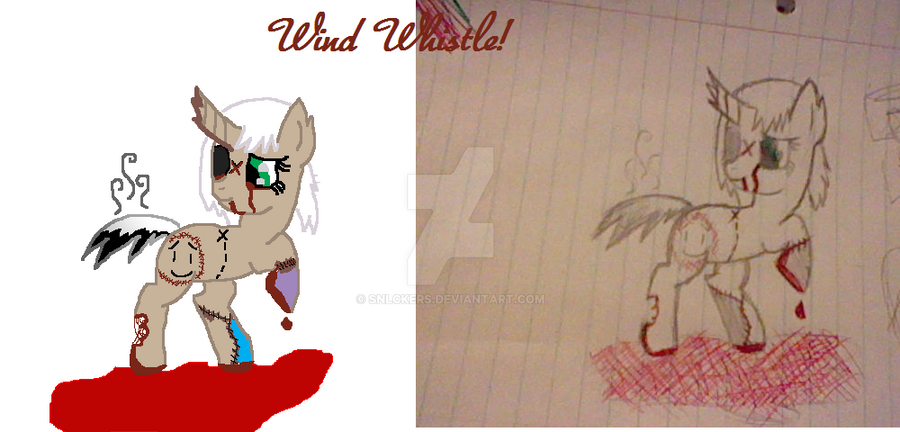 My Creepy Pony OC: Wind Whistle! by SNlCKERS