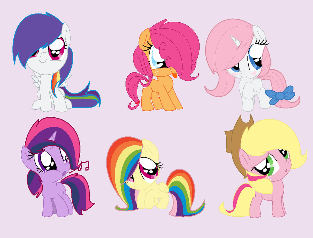 Mane Six Shipping Adopts Open By Snlckers On Deviantart