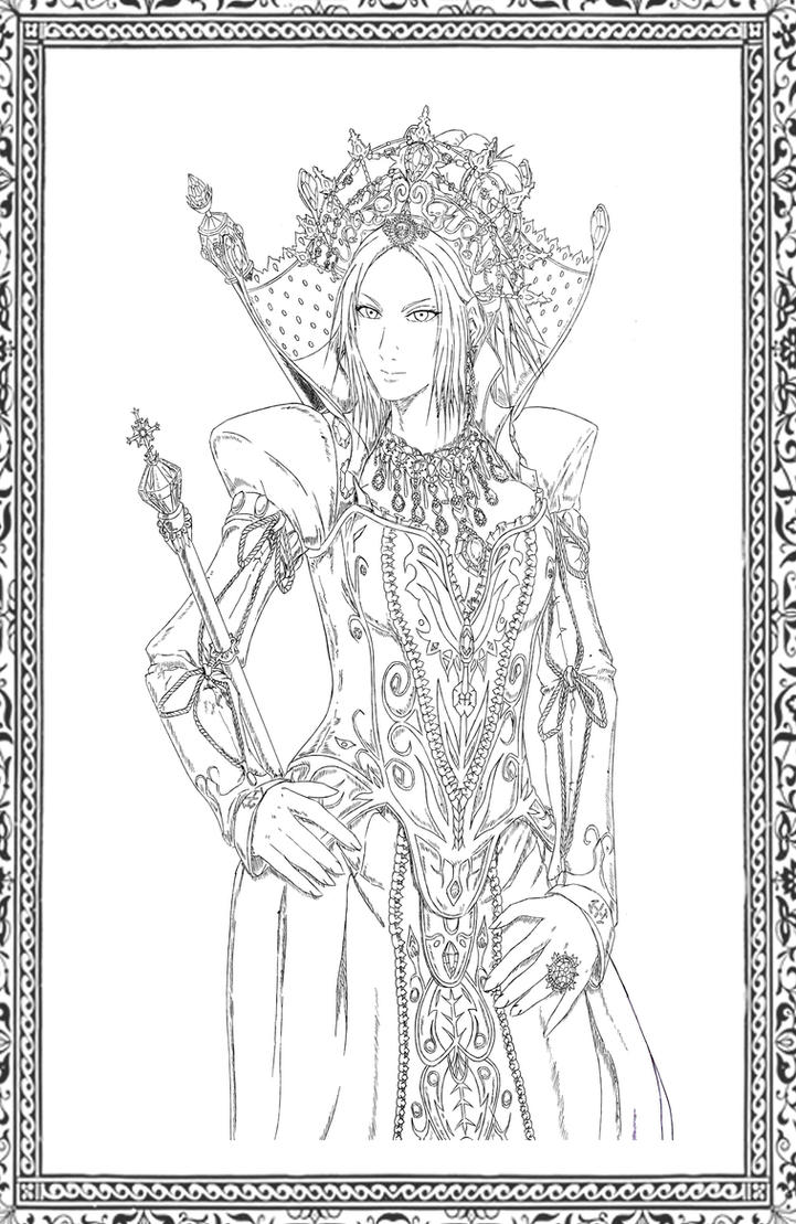 With Crown:Reine Miria Victoire Beauharnais Malaga by bmesias063