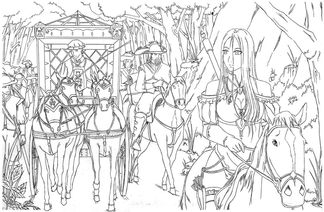 A Lineart for the Secret Trip of a Royal by bmesias063