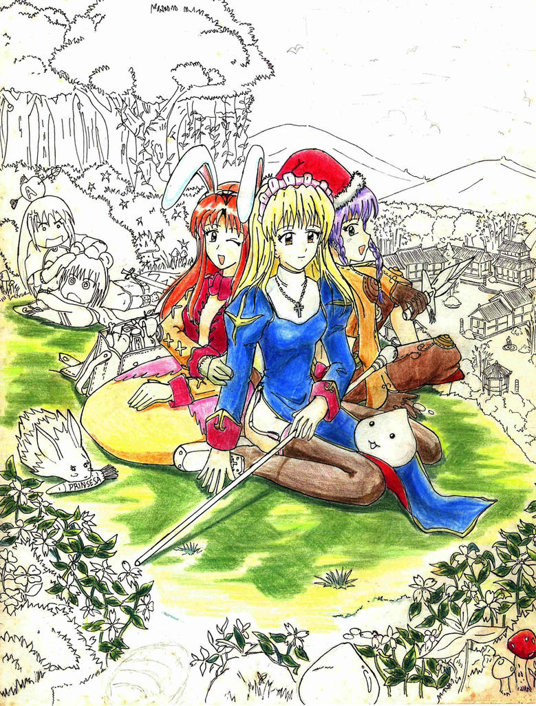 Old Artwork (Highschool days) Ragnarok Online 02 by bmesias063