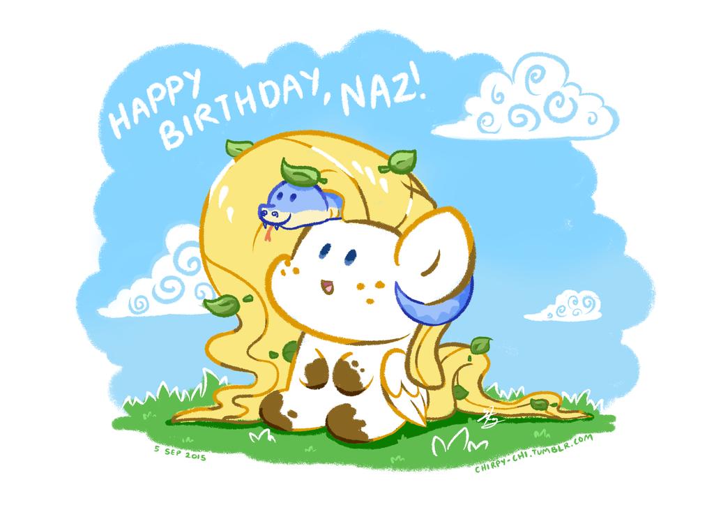Happy Birthday, Naz! by Chirpy-chi