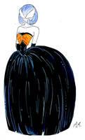 Mega Gardevoir shiny fashion illustration by IniishiSuochi