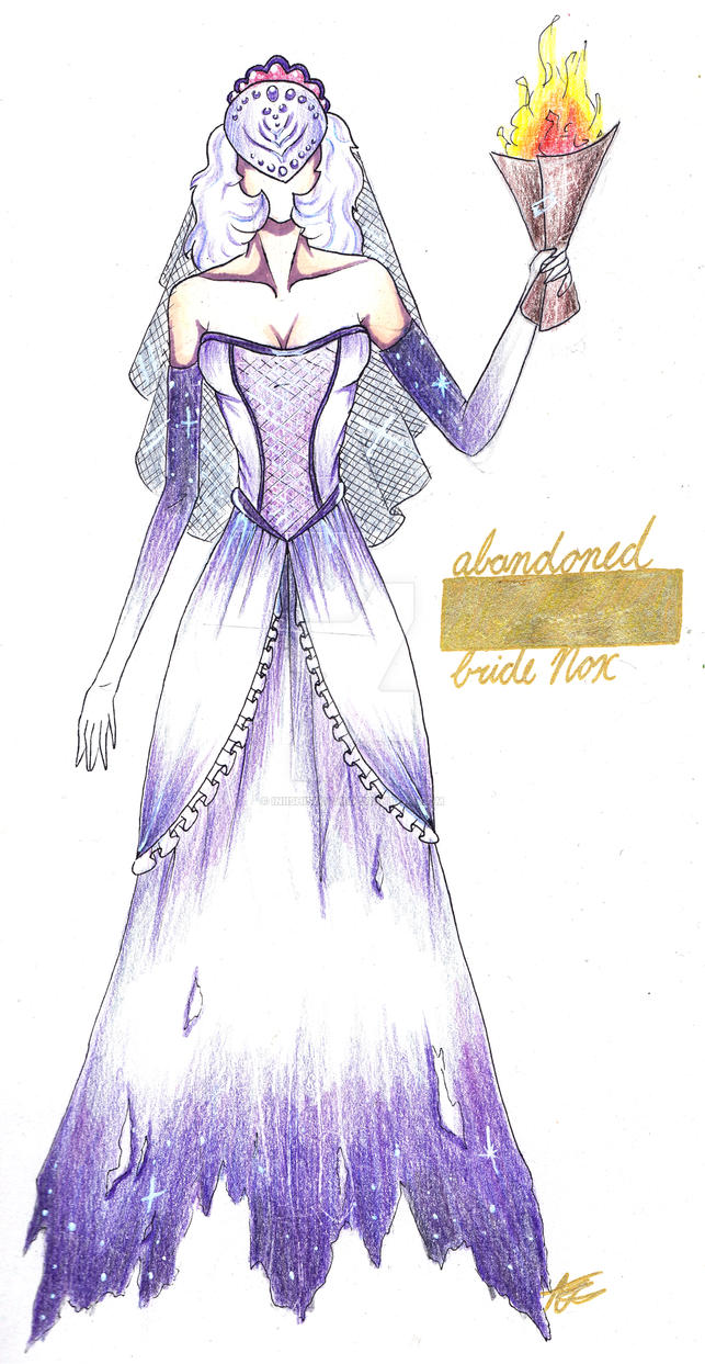 Abandoned bride Nox fashion sketch by IniishiSuochi