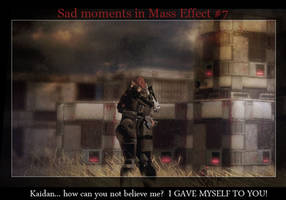 Sad moments in Mass Effect 7 by maqeurious