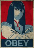 Obey Satsuki Kiryuin by albaturd