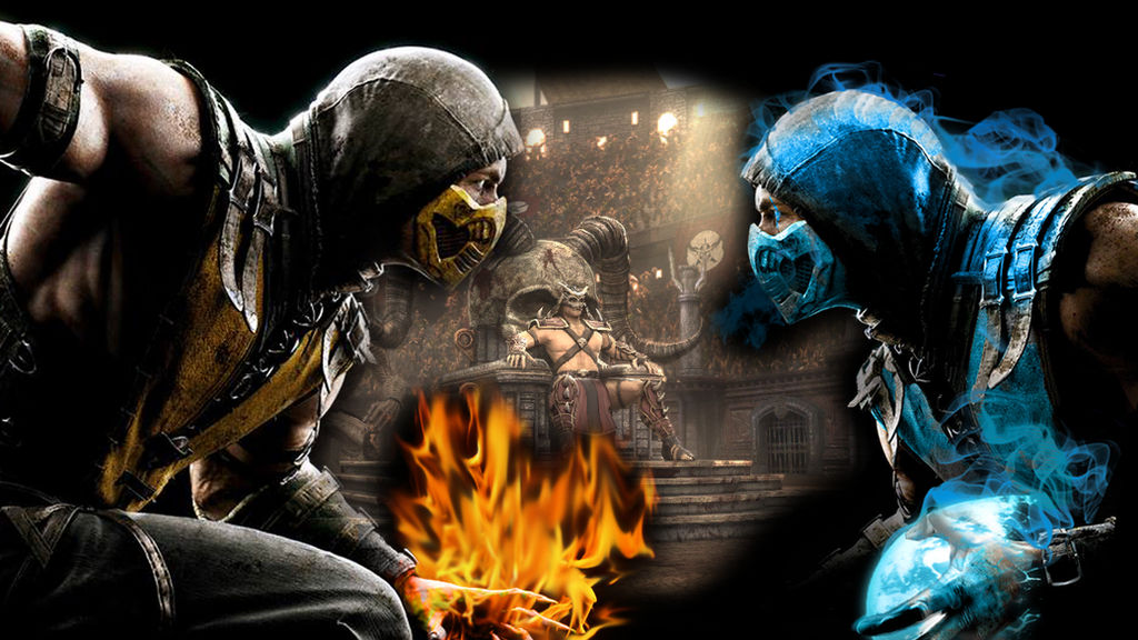 Mortal Kombat X Wallpaper Scorpion Vs Sub Zero By Preslice On