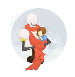 Papyrus and Frisk - Undertale by Insunnine