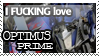 Optimus Prime Stamp by TanukiKyuubi
