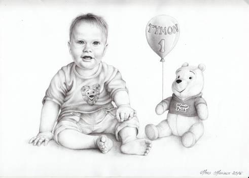 Portrait for my college's son birthday