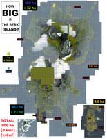 How big is the Berk Island?